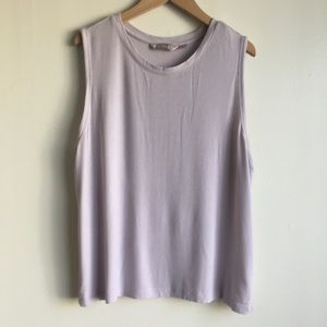 Athleta light violet ribbed thank top size L